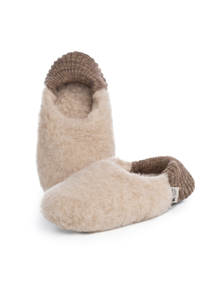Pantofle wełniane Welty - 03 Beż
